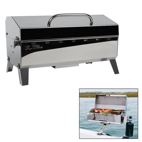 Kuuma Stow and Go Propane Tabletop and Mountable Grill - Stainless Steel Gas...
