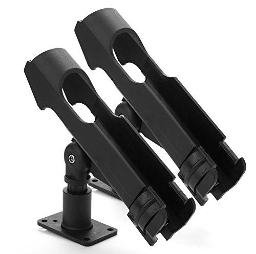 Bekith 2 Pack Adjustable Powerlock Rod Holder with Combo Mount, Black Finish